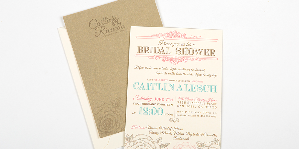 Vintage Chic Rose Bridal Shower Invite : Alesch