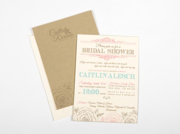 Vintage Chic Rose Bridal Shower Invite : Alesch
