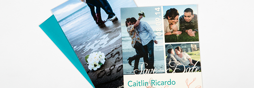 Teal & Coral Orchid Save The Dates : Murillo