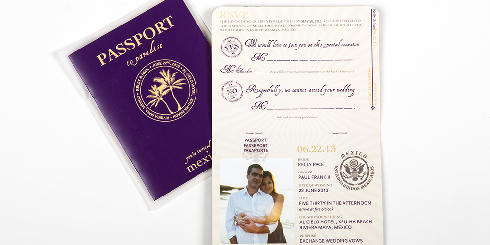 Passport Destination Wedding Invite set : Frank