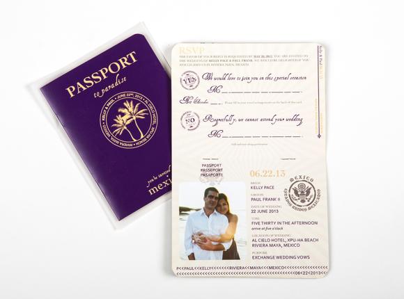 Passport Destination Wedding Invite set : Frank