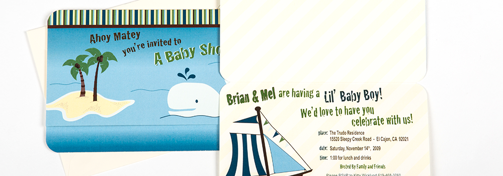 Ahoy Matey Baby Shower Invite : Wicklund