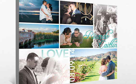 Wedding photo collage canvas: Murillo Wedding