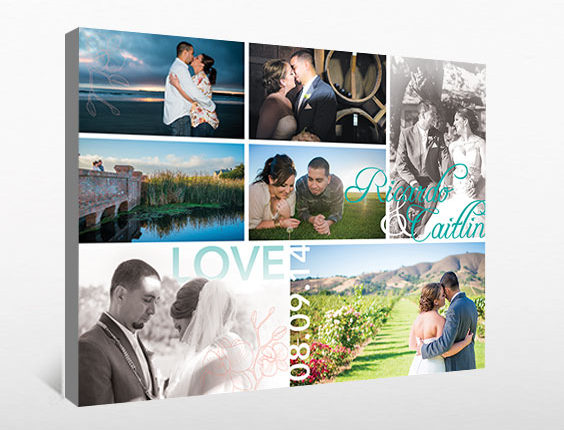 Wedding photo collage canvas: Murillo Wedding